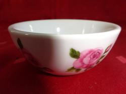 Német porcelán, mini asztalközép rózsa mintával.