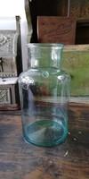 Huta üveg, pecsétes fújt üveg dekorációnak, 3l