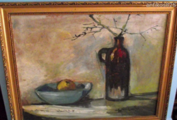 Olajfestmény.:Asztali csendélet