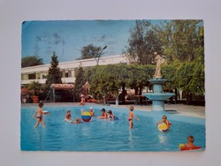 Retro képeslap Harkányfürdő Strand levelezőlap