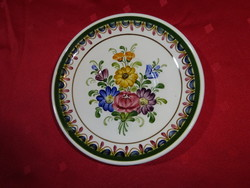 Wechsler német porcelán, kézzel festett mini falitányér, átmérője 15,5 cm.
