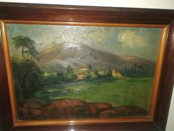 Pirk János - Nagybánya - olajfestmény - 1 forintról,garanciával.