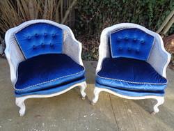Nádazott fotelek párban
