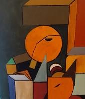 Nagyméretű kubista festmény