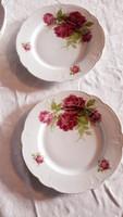 Zsolnay   rózsás   tányérok  2 db