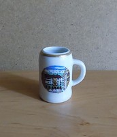 Ausztria Innsbruck emlék kicsi porcelán arany szélű korsó 5,5 cm (2/p)