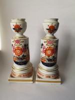 1820 k. Meissen porcelán gyertyatarók Tischchenmuster Kakiemon mintával