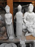 Mécses gyertya tartó Thai földi Kő Buddha  70cm Feng shui  műkő szobor