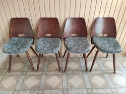 Tatra Nábytok ebédlőasztal 4 székkel / dining table with 4 chairs (1960)