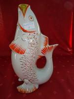 Orosz porcelán, halacskás italkiöntő, magassága 23,5 cm.