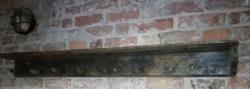 Fali fa akasztó, polc,régi kopottas köcsög tartó, 20.sz,eleje, népi