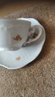 Zsolnay barokk teás csésze tányérral