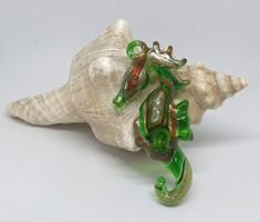 Millefiori üveg Csikóhal medál