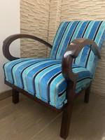 LEÁRAZVA!!! Egyedi Art Deco fotel, felújítva!
