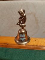 Mutatós réz csengő Pixie-manós fogantyúval