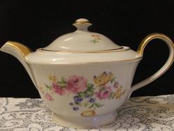 Zsolnay virág mintás tea kiöntő,cukortartó