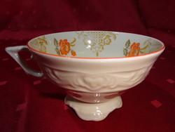 Bavaria német porcelán, antik teáscsésze narancssárga virággal.