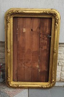 Antik hatalmas méretű Biedermeier,kép keret,tükör keret, festmény ràma .1800as évek, laparanyozott