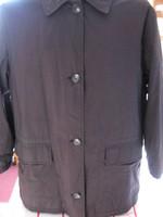 Fekete  elemens bélelt selyem-ballon kabát