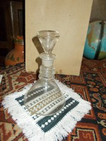 Art Deco stílusú likőrös üveg