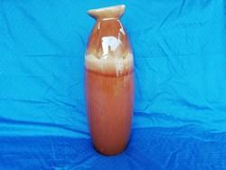 Retro nagy méretű csurgatott mázas váza