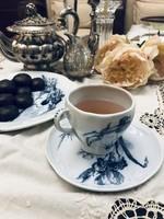 Szecessziós Villeroy&Boch teáscsésze alátéttel