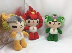 Kinai olimpia kabala plüss figurái