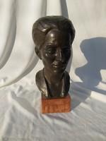 Búza Barna. (Buzi Barna) art deco bronz női büszt