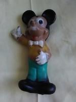 Mickey egér (Mickey Mouse) gumifigura régi sípoló gumi játék