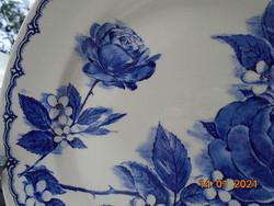 """Látványos """"Victoria"""" kék rózsás tál ,Broadhurst Staffordshire"""