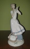 Cecília a szegfűs lány, Franklin porcelán, tervező Fulgencio García Lopez