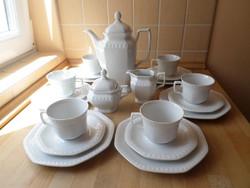 """Seltmann Weiden Bavaria """"ANDREA"""" fehér porcelán kávéskészlet"""