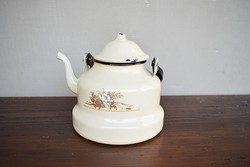 Zománcozott virágos teáskanna kanna