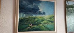 M. Náray Zsuzsanna olaj festmény