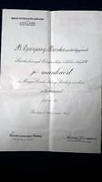 Anna főhercegnő aláírásával  Magyar Cserkészleány Szövetség 1928. OKLEVÉL