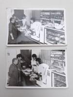 Retro élelmiszerbolti fotó bolti kép vintage fénykép 2 db