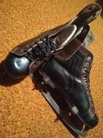 Retró hoki cipős bőrtalpú korcsolya eladó