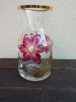 Gyönyörű virágmintás üveg váza