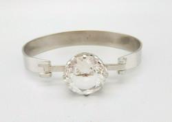 Designer ezüst kristály kővel