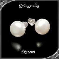 Fülbevalók: igazgyöngy , 925-ös sterling ezüst SFE-IGY02-9