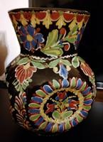 Lazi J. Majolika váza , sérült, ragasztott , gyönyörű! 20 cm