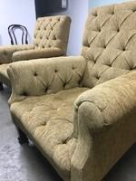 Chesterfield jellegű fotel pár B022