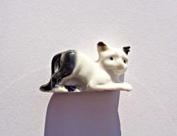 Régi apró német porcelán cica