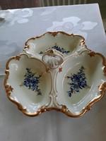 Német porcelán 3 részes kínàló/asztalközép