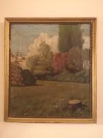 1918-as Szignált olajfestmény