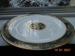 CARLYYLE copyright H.5018 arany kék zöld virág mintás prémium luxus tál ROYAL DOULTON