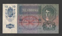 10 korona 1915.  (106 éves!!)  Bélyegzés nélkül!!  UNC!!  RITKA!!