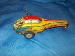 Régi lemezárugyár lendkerekes játék helikopter hiányos
