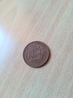 Half (1/2) Penny 1958 Elizabeth II.  EF