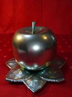 Likőrös üvegpoharak, alma formában, alma magassága 12 cm.